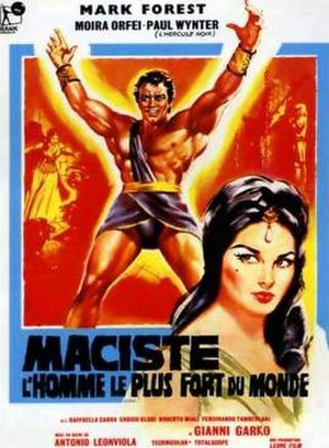 "Maciste - Bodybuilder Mark Forest played Maciste in the 1961 film ""Maciste l'uomo più forte del mondo"""