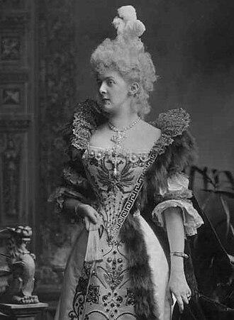 Marcia Pelham, Countess of Yarborough - The Countess of Yarborough as Countess Tchoglokov at the Devonshire House Ball, 1897.