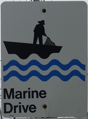 Nova Scotia Route 322 - Image: Marine Drive trail sign