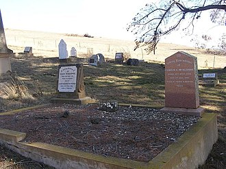 The Man from Snowy River (poem) - Charlie McKeahnie's grave in Old Adaminaby cemetery.