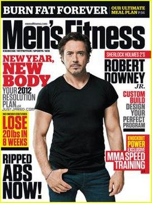 Men's Fitness - Robert Downey Jr. on the cover of Men's Fitness (U.S.), Jan/Feb 2012.