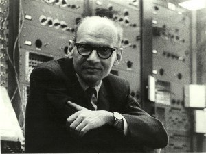 Milton Babbitt - Milton Babbitt with amplifiers