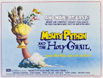 Monty Python and the Holy Grail - British theatrical releases banner