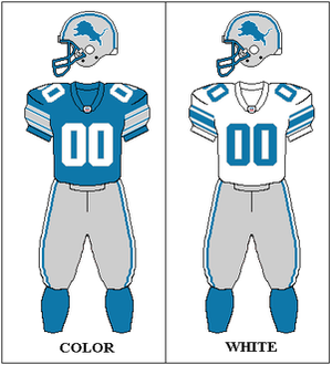 2001 Detroit Lions season - Image: NFC Throwback Uniform DET