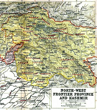 Jammu and Kashmir (princely state) - Map of Kashmir