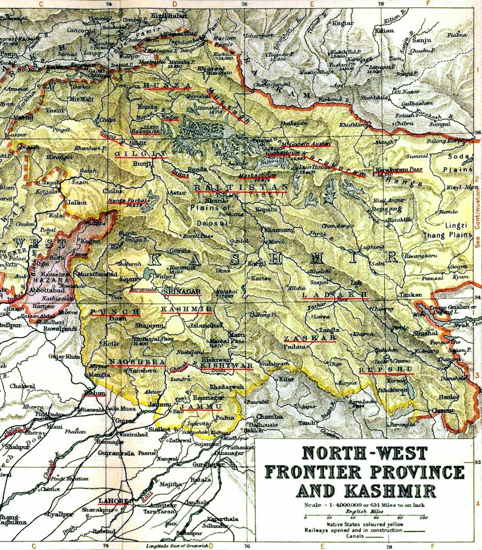 Location of Kashmir