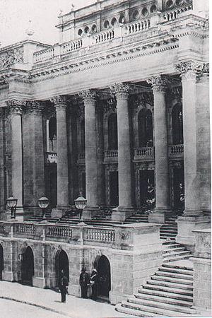 Royal Opera House, Valletta - The façade of the Opera House.