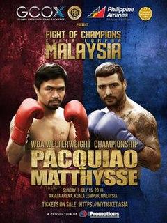 Manny Pacquiao vs. Lucas Matthysse 2018 boxing match