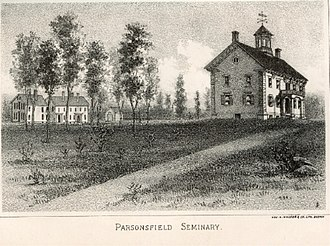 Parsonsfield, Maine - Parsonsfield Seminary building, erected 1857 after the original burnt in 1854