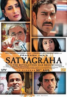 <i>Satyagraha</i> (film) 2013 Indian film directed by Prakash Jha