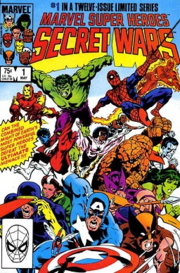 Marvel Super Heroes Secret Wars #1 (May 1984), cover art by Mike Zeck
