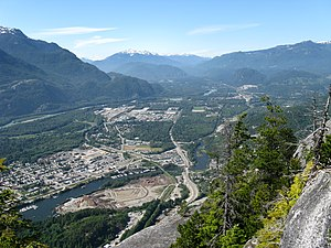 Squamish, British Columbia - Squamish and the Squamish Valley from the summit of the Chief