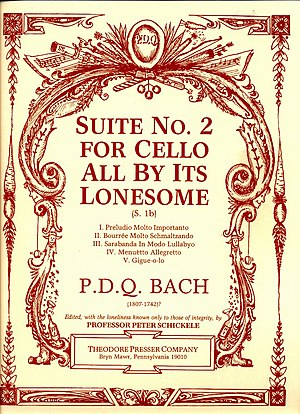 Suite No. 2 for Cello All By Its Lonesome - Cover of Suite No. 2 for Cello All By Its Lonesome