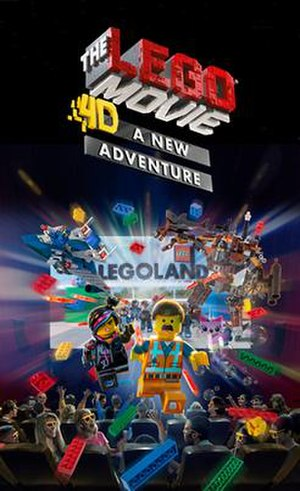 The Lego Movie: 4D - A New Adventure - The promotional poster for The Lego Movie: 4D - A New Adventure.