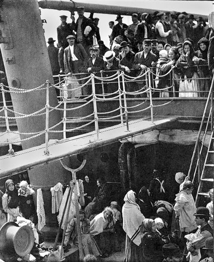 Classic Alfred Stieglitz photograph, The Steerage shows unique aesthetic of black-and-white photos. - Photography