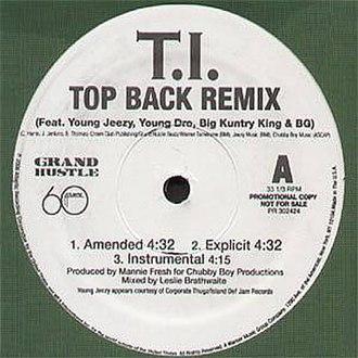 Top Back - Image: Top Back single