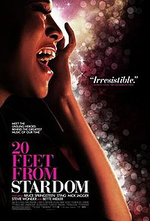 <i>20 Feet from Stardom</i> 2013 documentary film by Morgan Neville