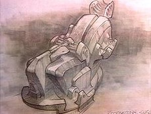 Without (The X-Files) - A concept sketch of an alien surgical chair, as seen in Mulder's abduction.