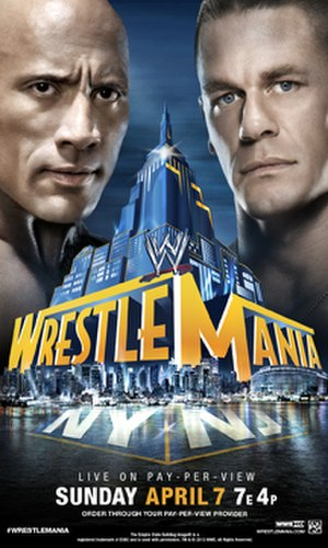 WrestleMania 29 - Promotional poster featuring The Rock and John Cena