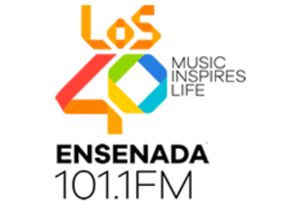 XHAT-FM - Logo used when the station used the Los 40 format