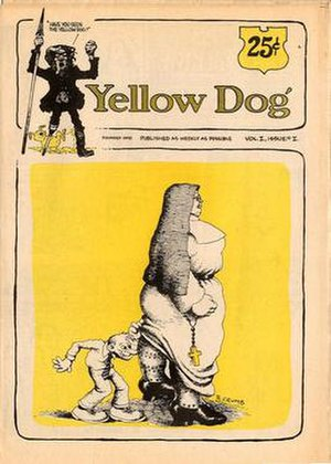 Yellow Dog (comics) - The cover to Yellow Dog 1 (May 1968), featuring an illustration by Robert Crumb