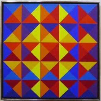 Karl Benjamin - Image: 'Multi Triangles (Untitled 26)' by Karl Benjamin, 1969, oil on canvas, Honolulu Museum of Art, accession 2013.45.04