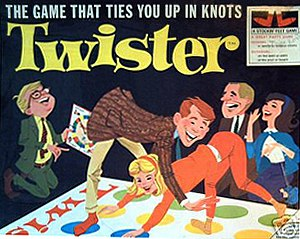 Twister (game) - Early box cover art