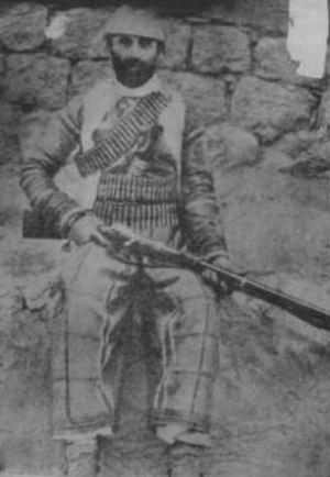 Assyrian independence movement - Assyrian fighter during the 1890s from the Tyari tribe.