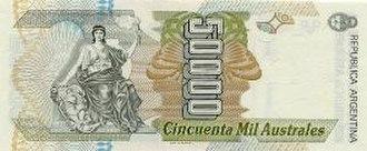 Argentine austral - Image: Autral 50000 B