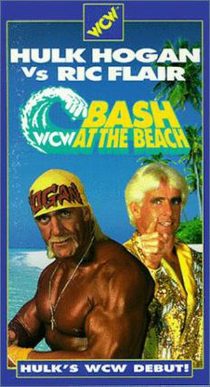 Bash at the Beach - VHS cover featuring Hulk Hogan and Ric Flair.