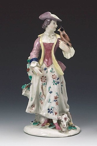 Bow porcelain factory - Image: Bow Porcelain Factory Lady Falconer c 1755