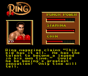 Boxing Legends of the Ring - The skills and attributes of the player.