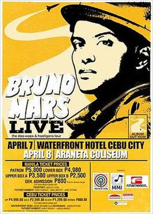 The Doo-Wops & Hooligans Tour - Image: Bruno mars the doo wops & hooligans tour