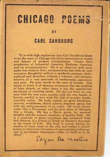 Carl Sandburg, Chicago Poems, cover.jpg
