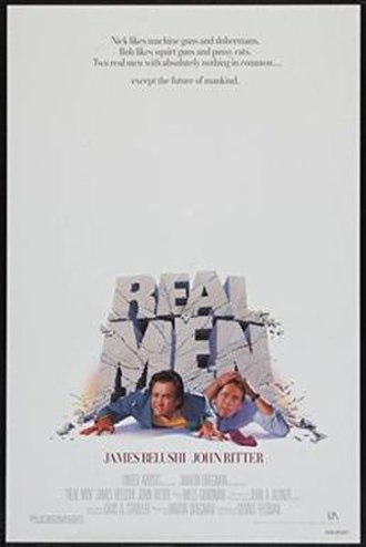Real Men (film) - Image: DVD cover of the movie Real Men