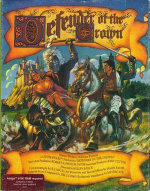 Defender of the Crown - Amiga cover art