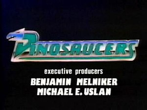 Dinosaucers - Title screen