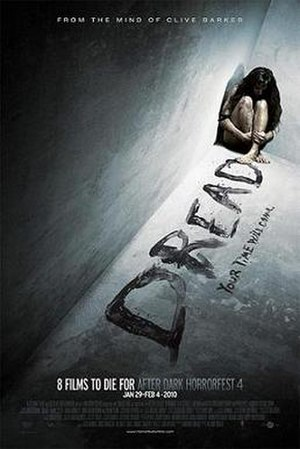 Dread (film) - Promotional film poster