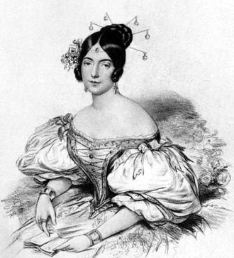 Eugenia Tadolini - Eugenia Tadolini as Adina in Donizetti's L'elisir d'amore, a role to which she was particularly suited.