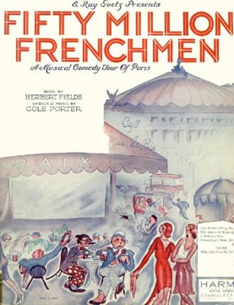 Fifty Million Frenchmen - Original sheet music cover