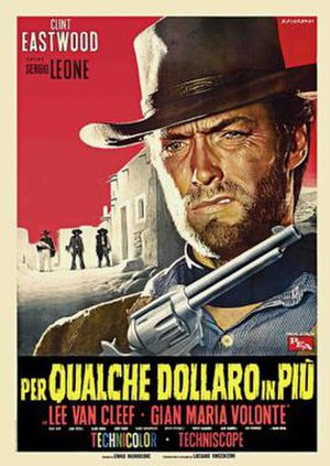 For a Few Dollars More - Italian theatrical release poster