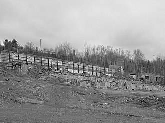Freda, Michigan - The remains of the Champion mill in Freda