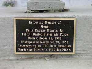 Felix Moncla - Gene Moncla memorial in Sacred Heart Cemetery, Moreauville, LA.