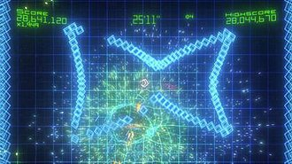 Geometry Wars: Retro Evolved 2 - Sequence mode.