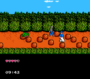 The Adventures of Gilligan's Island - Gilligan and Skipper traverse one of the game's levels.