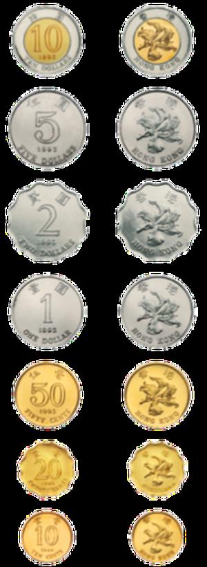 Coins of the Hong Kong dollar - Reverses of Hong Kong coins