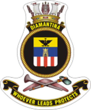 HMAS Diamantina (K377) - Image: HMAS diamantina crest