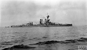 HMS Benbow (1913) - Benbow in Scapa Flow in May 1917