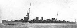 HMS Diomede (D92) - HMS Diomede as completed in 1922.