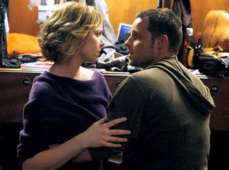 I Like You So Much Better When You're Naked (Grey's Anatomy) - An episodic screenshot displaying Stevens seeking reconciliation, as Karev dismisses her.